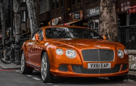 Bentley Car In City Street
