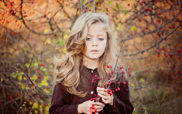 Berries Branches Girl (click to view)