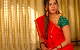Bhumika Chawla In Red Saree