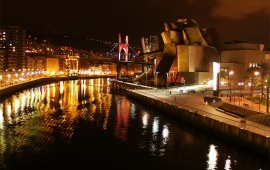 Bilbao Spain Night