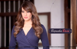 Bipasha Basu In Blue Dress