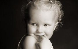 Black And White Cute Baby