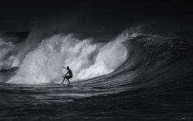 Black And White Surfing Sports