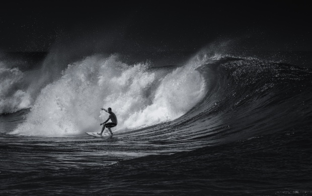 Black And White Surfing Sports (click to view)