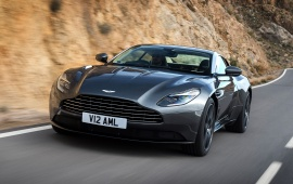 Black Aston Martin DB11 2016