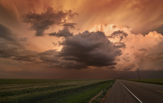Black Cloud Sunset (click to view)
