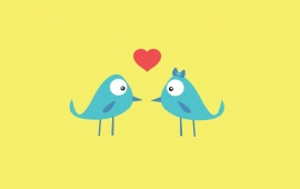Blue Birds In Love