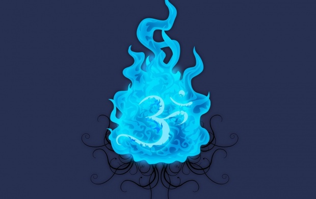 Blue Fire In Om (click to view)