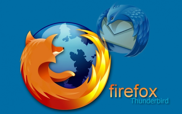 Blue Firefox Thunderbird (click to view)