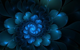 Blue Flower Petals Abstraction