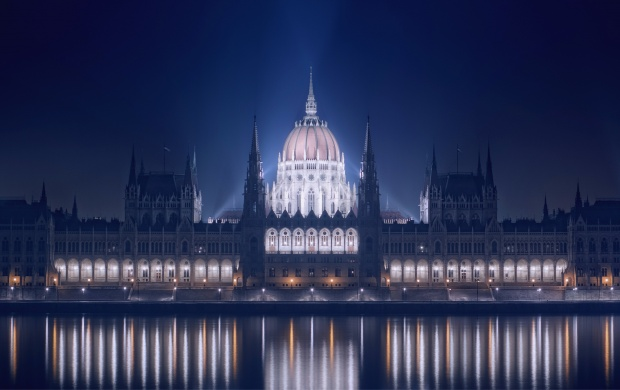 Blue Hungarian Parliament Building (click to view)
