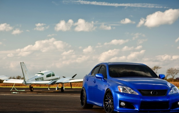 Blue Lexus IS-F (click to view)