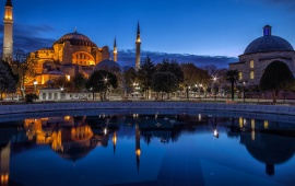 Blue Night Sultan Ahmed Mosque Istanbul