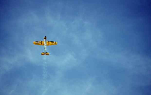 Blue Sky In Flying Aviation (click to view)