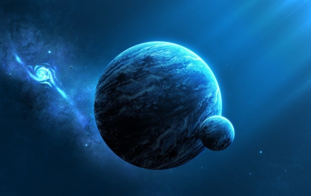 Blue Space Universe Planets (click to view)