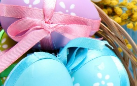 Blue Spring Eggs Easter