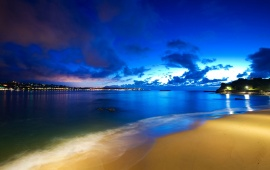 Blue Sunset on the Beach