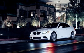 BMW 3 Series At Night Street