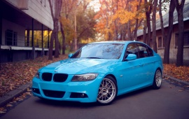 BMW Blue On Road