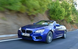BMW M6 Convertible Blue Car
