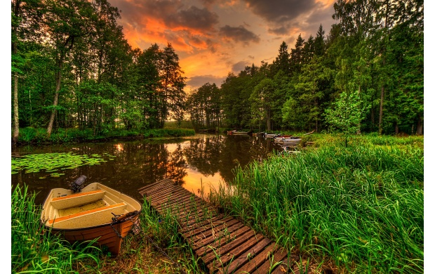 Boat On Small Lake (click to view)