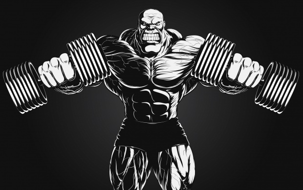 Bodybuilder Black Background (click to view)