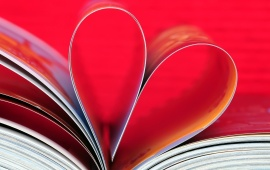 Books Pages Create Love Heart
