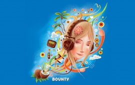 Bounty Girl with Headphones