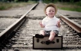 Boy On The Railroad