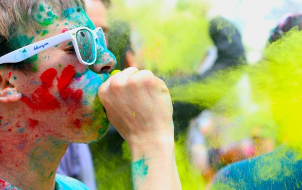 Boy Playing Holi (click to view)