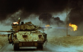 Bradley Tanks Fire In Iraq