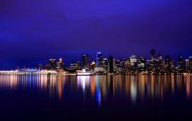 British Columbia Vancouver Night Lights