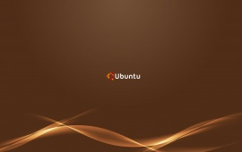 Brown Waves Ubuntu