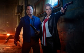 Bruce Campbell And Lucy Lawless In Ash vs Evil Dead