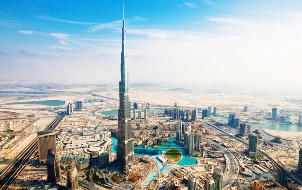 Burj Khalifa Seen From Above (click to view)