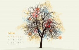 Calendar Autumn Magazine Tree
