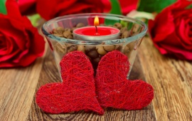 Candle And Red Heart