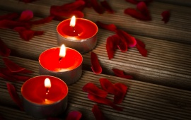 Candles Petals And Romance