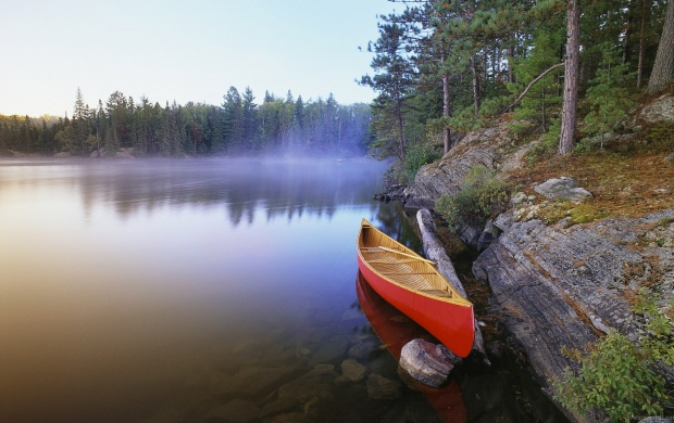 Canoe Morning On The Lake (click to view)