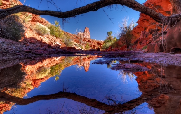 Canyon Lake In Reflection (click to view)