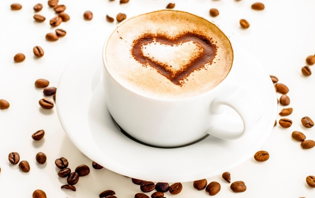 Cappuccino Foam Heart Illustration Chocolate (click to view)