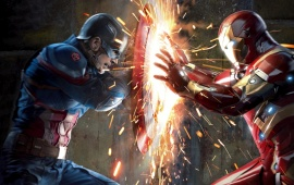 Captain America And Iron Man War In Captain America Civil War