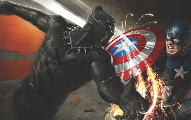 Captain America Battles Black Panther (click to view)