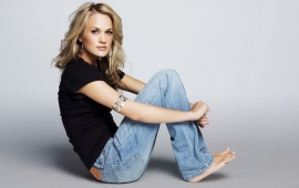 Carrie Underwood in Black & Blue