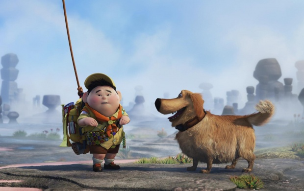 Cartoon Boy And Dog (click to view)