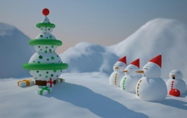 Cartoon Snowman Christmas