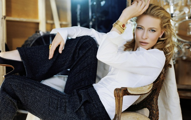 Cate Blanchett in white shirt (click to view)