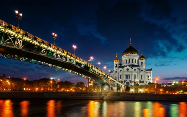 Cathedral Of Christ The Savior Russia Sunset (click to view)