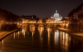 Cathedral Of St Peter Italy Night River