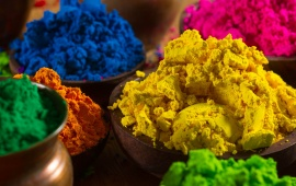 Celebrate Holi Colorful Powder